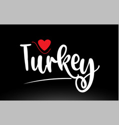 turkey country text typography logo icon design vector image