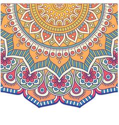 vintage mandala flower design image vector image