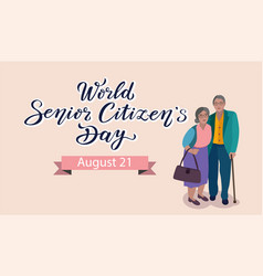 World senior citizens day poster vector