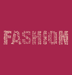 Fashion keywords tag cloud vector