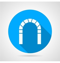 Flat icon for brick archway vector