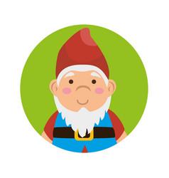 garden elf decorative icon vector image