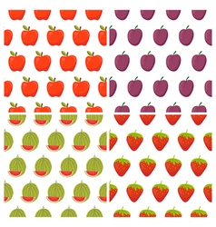 Set of fruit seamless patterns Healthy food vector image vector image
