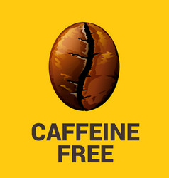 caffeine free icon on yellow background vector image