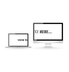 Computer screens vector image vector image