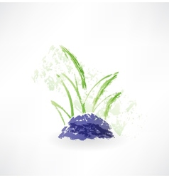 grass grunge icon vector image vector image
