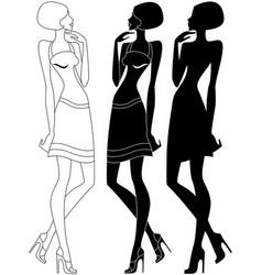 model in shoes with high heels vector image vector image