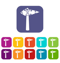 ancient hammer icons set vector image