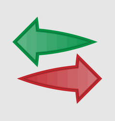 arrows in two directions vector image