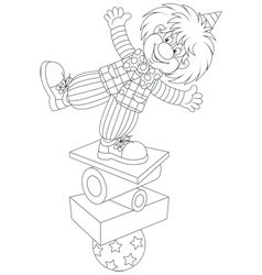 Clown equilibrist vector image vector image