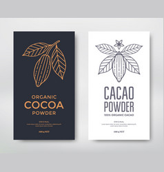 cocoa package template vector image vector image