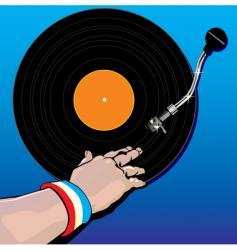 DJ music vector image vector image