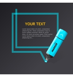 Ector markers text box vector