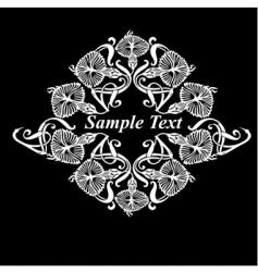 flower heraldry vector image vector image