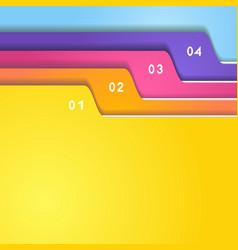 Folder tab set vector image vector image