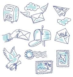 Postage set vector image