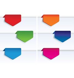 set of colorful arrows vector image vector image