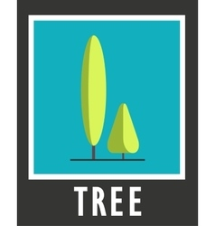 Sign of the two trees on a blue background vector image