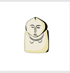 stone idol balbal are scattered on the kazakh vector image vector image