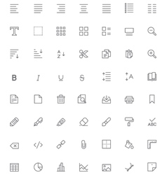 Text editing icon set vector image vector image