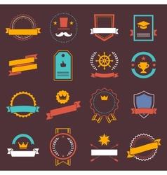 Vintage retro flat badges labels signs symbols vector image vector image