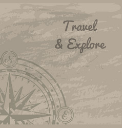 world discovery concept with compass rose vector image