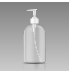 Clean liquid soap bottle template vector image vector image