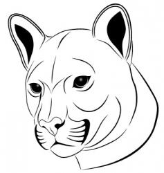 cougar tattoo vector image