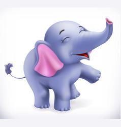 cute baby elephant cartoon character funny vector image vector image