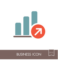 growth graph outline icon finances sign vector image vector image