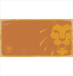 Lion poster lion sign vector image vector image