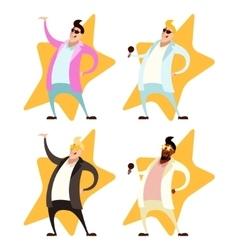 Set of Pop singers vector image