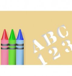 stencil and crayons vector image vector image