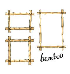 Yellow bamboo frames vector image vector image