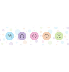 5 character icons vector