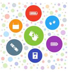 7 generation icons vector