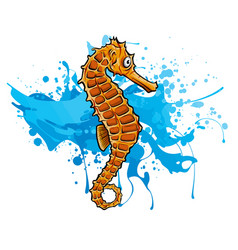 a seahorse without mesh tool vector image