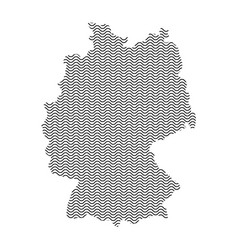 abstract germany country silhouette of wavy black vector image