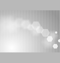 Abstract gray minimal tech hexagons background vector
