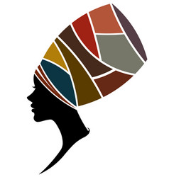 african women silhouette fashion models on white vector image