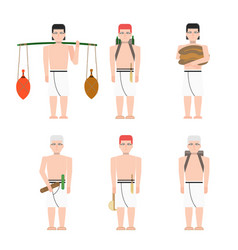 Ancient egypt workers vector