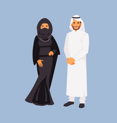 arabic costume vector image