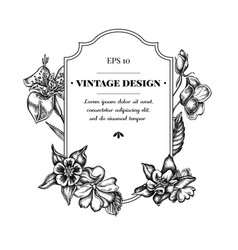 Badge design with black and white impatiens vector