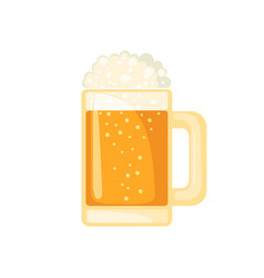 beer mug in flat style isolated on white vector image