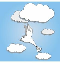 bird flying in the sky vector image