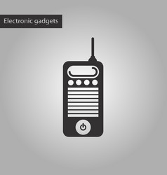 Black and white style icon old cell phone vector
