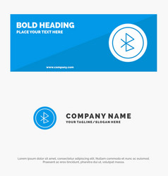 Bluetooth ui user interface solid icon website vector