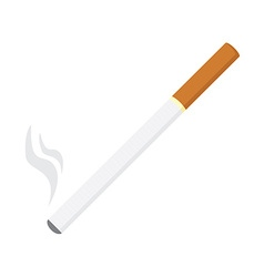 Burning cigarette vector