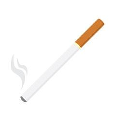 Burning cigarette vector image