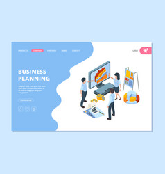 business planning landing people financial vector image